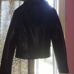Black jacket leather